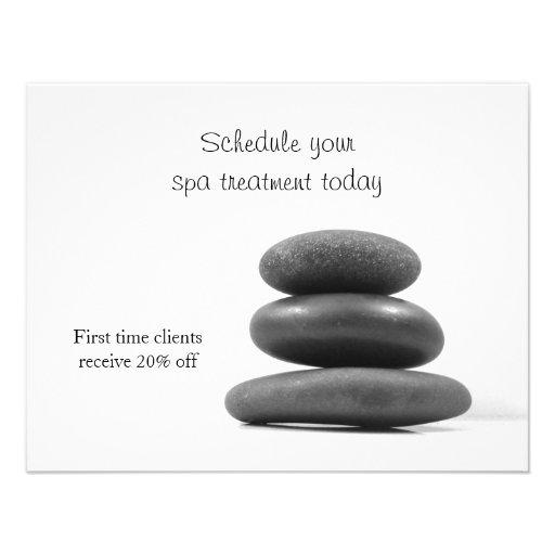 Piedras del masaje invitaciones personales