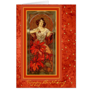 """Piedras preciosas - rubí"" 1900 - tarjeta de cumpl"