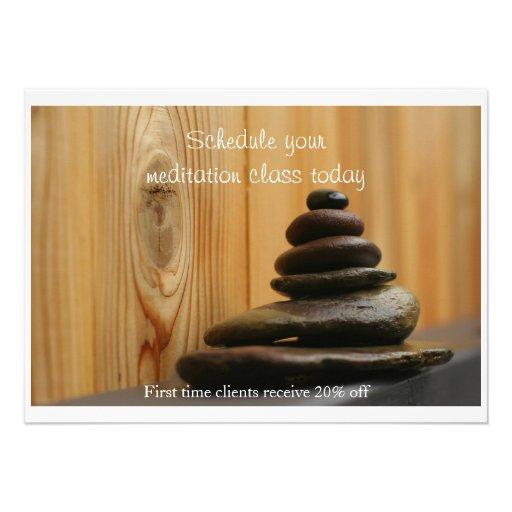 Piedras y madera del masaje anuncio