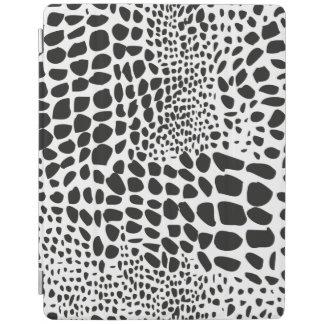 Piel animal en blanco y negro cubierta de iPad