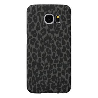 Piel animal negra y gris de la piel del leopardo funda samsung galaxy s6