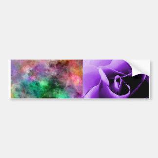 piel color de rosa púrpura del ecig del teñido anu pegatina para coche