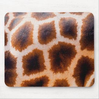 Piel de Brown y de la jirafa del moreno Alfombrilla De Ratón