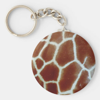 piel de imitación de la jirafa llavero redondo tipo chapa