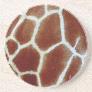 piel de imitación de la jirafa posavasos de arenisca