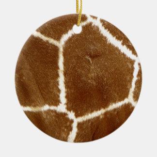 Piel de la jirafa ornamento de reyes magos