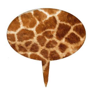 Piel de la jirafa figura para tarta