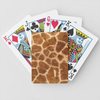 Piel de la jirafa cartas de juego
