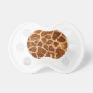 Piel de la jirafa chupete de bebé
