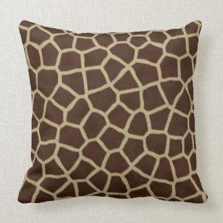 Piel de la jirafa cojín decorativo