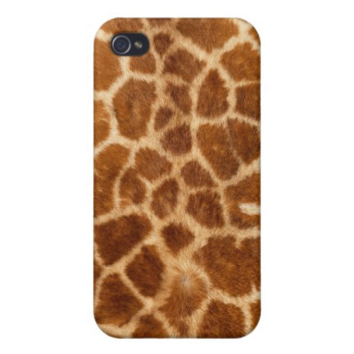 Piel de la jirafa iPhone 4 carcasas