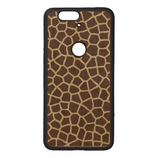 Piel de la jirafa fundas de madera para nexus s6p
