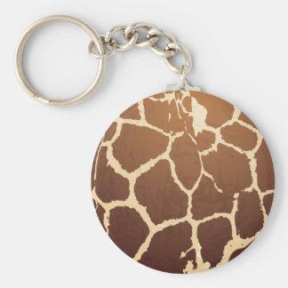 Piel de la jirafa llavero redondo tipo chapa