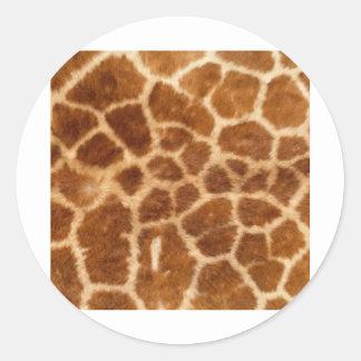 Piel de la jirafa pegatina redonda