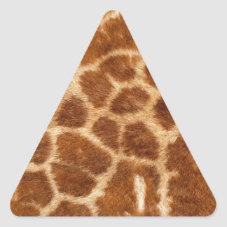 Piel de la jirafa pegatina triangular