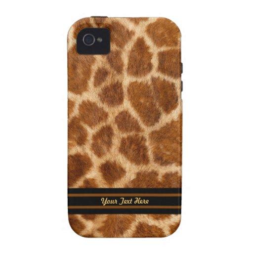 Piel de la jirafa - personalizar iPhone 4 fundas