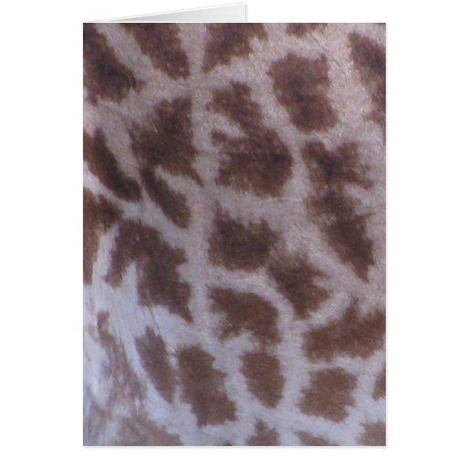 Piel de la jirafa felicitación
