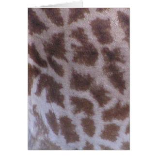 Piel de la jirafa tarjeta de felicitación