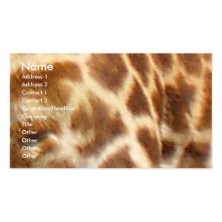 Piel de la jirafa tarjetas de visita