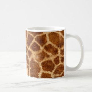 Piel de la jirafa taza de café