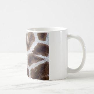 Piel de la piel de la jirafa taza de café