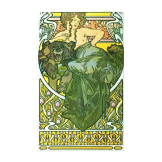 Piel de oso 1901 lona envuelta para galerias