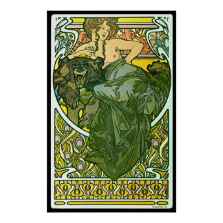 Piel de oso 1901 póster