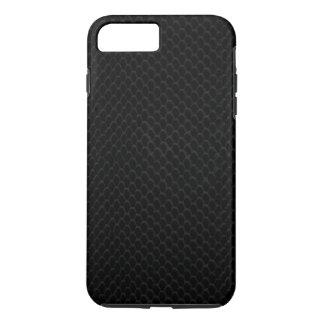 Piel de serpiente negra funda iPhone 7 plus