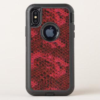 Piel de serpiente roja y negra