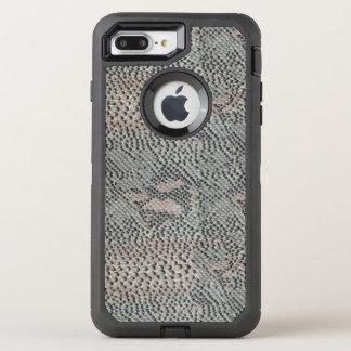 Piel de serpiente suavemente gris y rosada funda OtterBox defender para iPhone 8 plus/7 plus