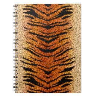 Piel del animal del tigre de Bengala Cuaderno
