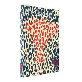 Piel del estampado de animales del leopardo - bell lienzo