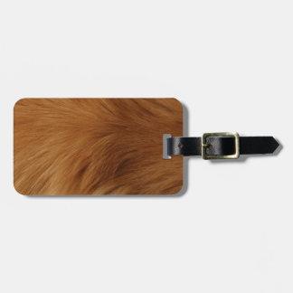 Piel del golden retriever etiqueta para maletas