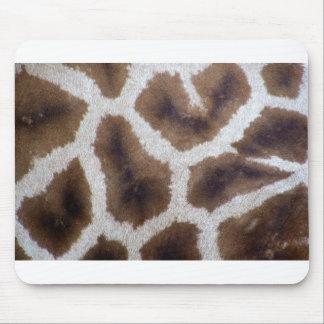 Piel del papel de embalaje de la jirafa alfombrilla de ratón