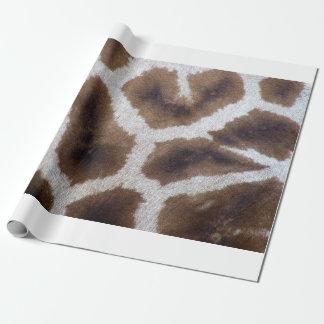 Piel del papel de embalaje de la jirafa papel de regalo