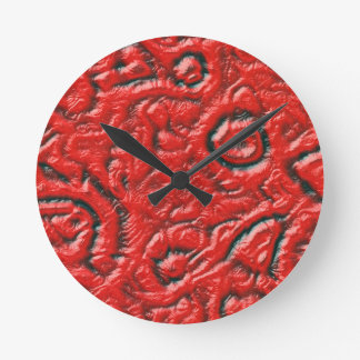 Piel extranjera reloj redondo mediano