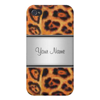 Piel I del leopardo iPhone 4 Coberturas