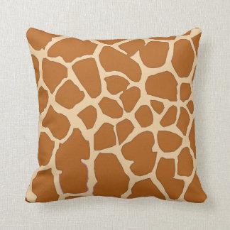 piel marrón de la jirafa cojín