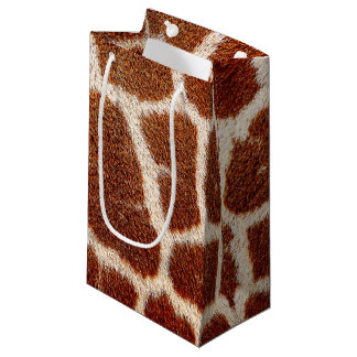Piel original de la jirafa bolsa de regalo pequeña
