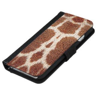 Piel original de la jirafa carcasa de iPhone 6