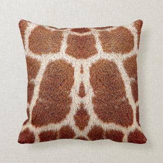 Piel original de la jirafa cojín