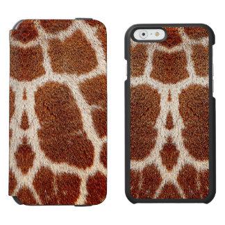 Piel original de la jirafa funda cartera para iPhone 6 watson