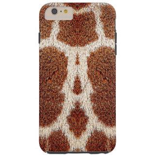 Piel original de la jirafa funda para iPhone 6 plus tough