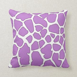 piel púrpura de la jirafa cojín
