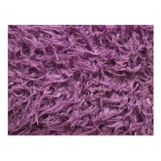 Piel púrpura elegante tarjeta postal