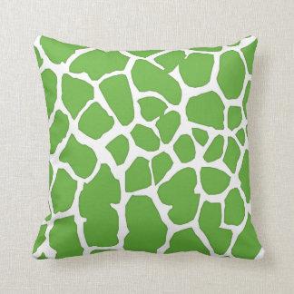 piel verde de la jirafa cojin