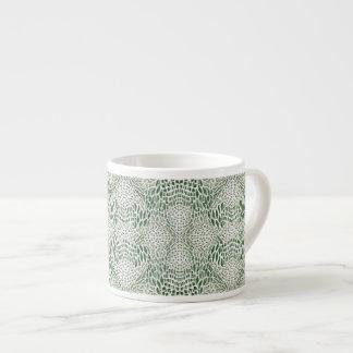 piel verde de serpiente taza de espresso