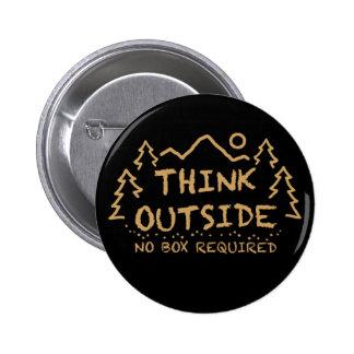 Piense afuera, ninguna caja requerida chapa redonda de 5 cm