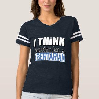 Piense al libertario camiseta