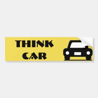 Piense al pegatina enrrollado del coche